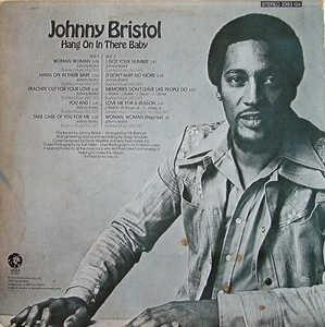 Back Cover Album Johnny Bristol - Hang On In There Baby
