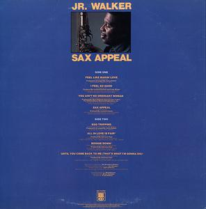 Back Cover Album Junior Walker & The All-stars - SAX Appeal