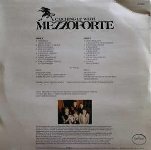 Back Cover Album Mezzoforte - Catching Up With Mezzoforte