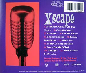 Back Cover Album Xscape - Hummin' Comin' At 'Cha