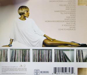 Back Cover Album Mary J. Blige - GROWING PAINS