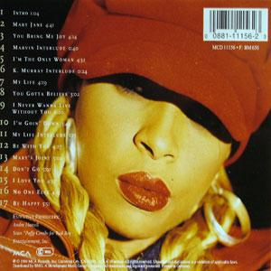 Back Cover Album Mary J. Blige - My Life