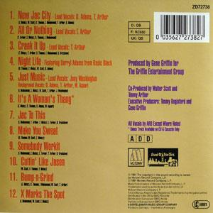 Back Cover Album Arb - The Hard And Soft