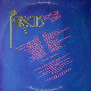 Back Cover Album The Miracles - Don't Cha Love It