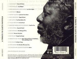 Back Cover Album Various Artists - A Tribute To Curtis Mayfield