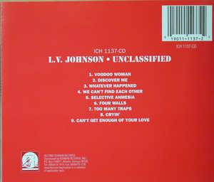 Back Cover Album L.v. Johnson - Unclassified