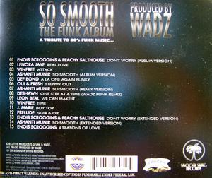 Back Cover Album Various Artists - So Smooth The Funk Album (produced By Wadz)