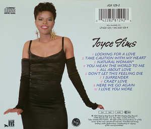 Back Cover Album Joyce Sims - All About Love