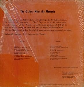 Back Cover Album The O'jays - The O'Jays Meet The Moments