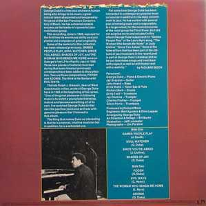 Back Cover Album George Duke - Pacific Jazz