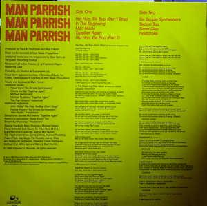 Back Cover Album Man Parrish - Man Parrish