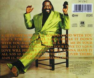 Back Cover Album Barry White - Put Me In Your Mix