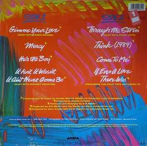 Back Cover Album Aretha Franklin - Through The Storm