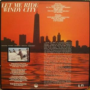 Back Cover Album Windy City - Let Me Ride