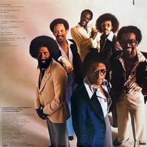 Back Cover Album Commodores - Natural High