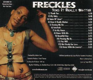 Back Cover Album Freckels - Does It Really Matter
