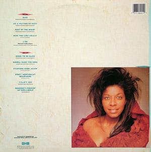 Back Cover Album Natalie Cole - Good To Be Back