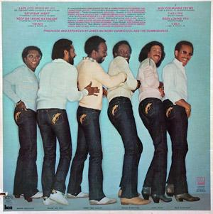 Back Cover Album Commodores - In The Pocket