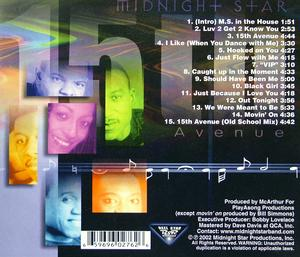 Back Cover Album Midnight Star - 15th Avenue