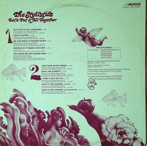 Back Cover Album The Stylistics - Let's Put It All Together