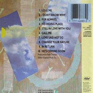 Back Cover Album Bebe And Cece Winans - BeBe & CeCe Winans