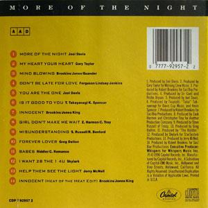 Back Cover Album The Whispers - More Of The Night