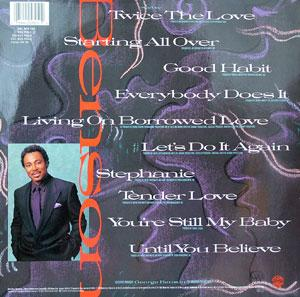 Back Cover Album George Benson - Twice The Love