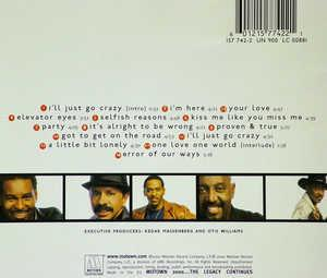Back Cover Album The Temptations - Ear-resistable