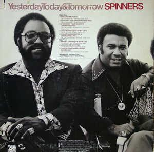 Back Cover Album The Spinners - Yesterday Today & Tomorrow
