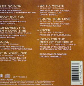 Back Cover Album David Black - Loving Ain't Easy