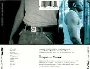 Back Cover Album Avant - My Thoughts