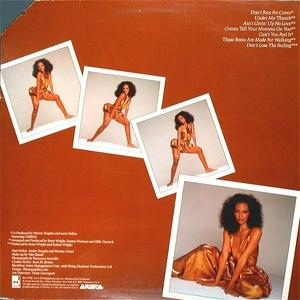Back Cover Album Beverly Johnson - Don't Lose The Feeling