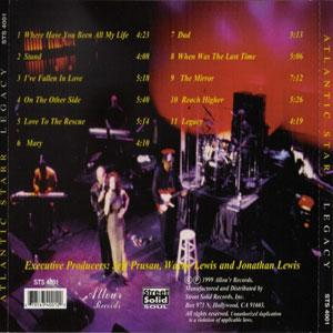 Back Cover Album Atlantic Starr - Legacy