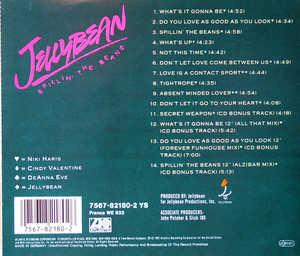 Back Cover Album Jellybean - Spillin' The Beans