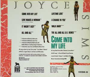 Back Cover Album Joyce Sims - Come Into My Life