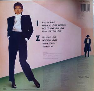 Back Cover Album Melba Moore - Never Say Never