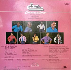 Back Cover Album Brass Construction - Conversations