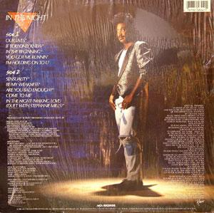 Back Cover Album Robert Brookins - In The Night