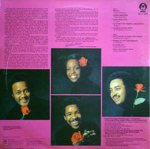 Back Cover Album Gladys Knight & The Pips - Second Anniversary