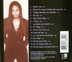 Back Cover Album Lovena Fox - Holdin' Out