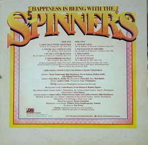 Back Cover Album The Spinners - Happiness Is Being With The Spinners
