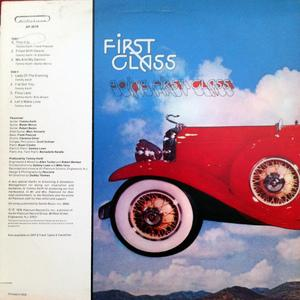 Back Cover Album First Class - GOING FIRST CLASS