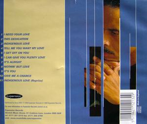 Back Cover Album Keni Burke - Nothin' But Love