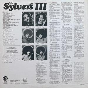 Back Cover Album Sylvers - The Sylvers III