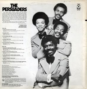 Back Cover Album The Persuaders - The Persuaders