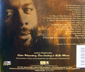 Back Cover Album Bebe Winans - Live And Up Close