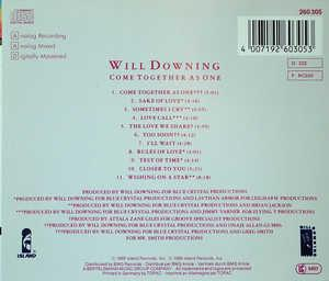 Back Cover Album Will Downing - Come Together As One