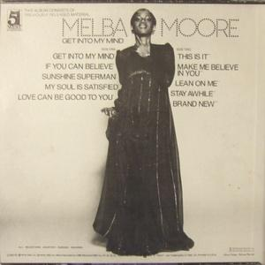 Back Cover Album Melba Moore - Get Into My Mind