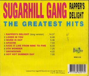Back Cover Album Sugarhill Gang - Rappers Delight (the Greatest Hits)