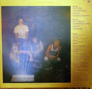 Back Cover Album Level 42 - The Pursuit Of Accidents